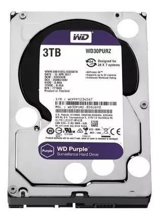 Hd 3tb Purple Western Digital Dvr Wd30purz Intelbras