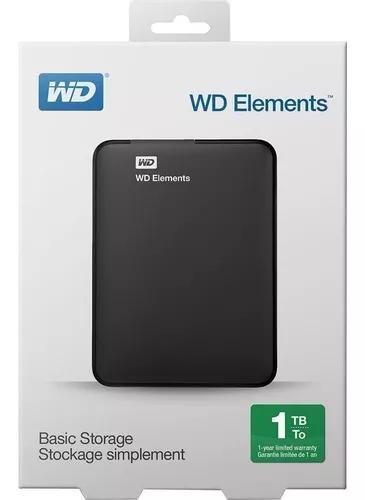 Hd externo 1tb western digital wd usb 3.0 pc mac one e ps4