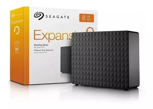 Hd externo 8tb seagate expansion 3.5 usb 3.0 steb8000100