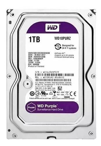 Hd interno western digital 1tb (1000mb) purple sata 1 tb