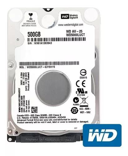 Hd notebook 500gb interno western digital 5400rpm 2,5 sata