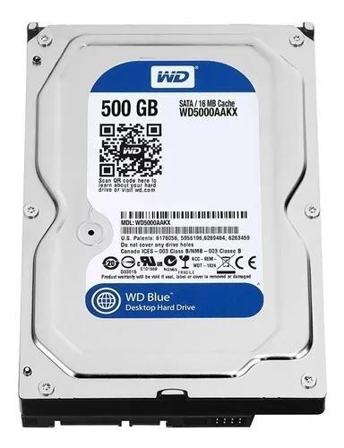 Hd wd 500gb sata 6gbs wd blue 7200rpm wd5000aakx desktop