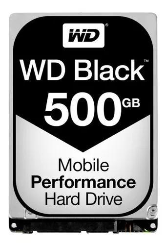 Hd wd black slim 500gb 7200 rpm notebook novo lacrado