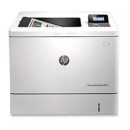 Impressora hp laserjet m553dn- usada - com defeito no painel