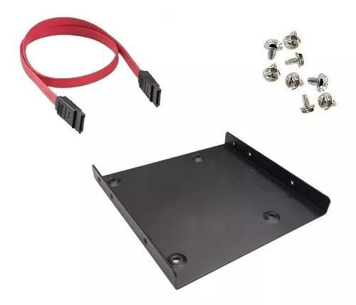 Kit adaptador de alumínio baia 2,5 p/ 3,5 para ssd e hd 2,5