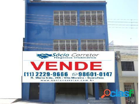 Vendo prédio comercial 600m² ao lado do fórum de guarulhos - edifício comercial a venda no bairro centro - guarulhos, sp - ref.: sc00066