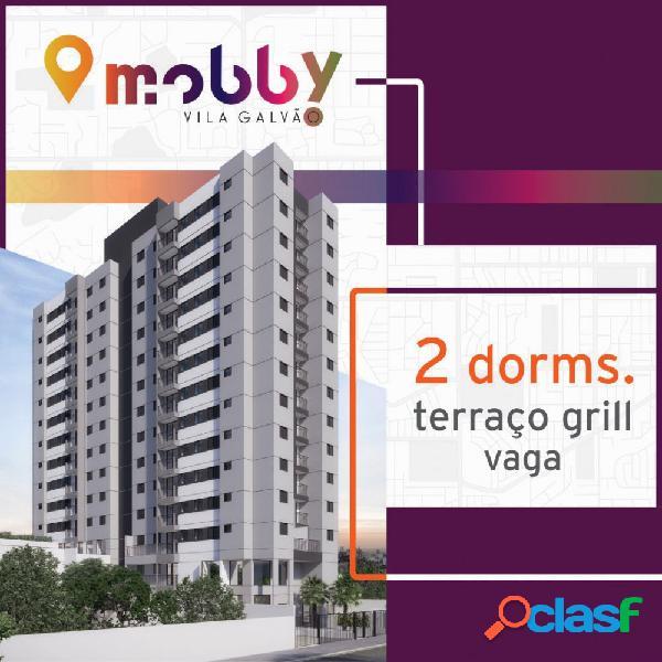 Mobby vila galvão - 2 dormitórios com terraço grill - apartamento em lançamentos no bairro vila galvão - guarulhos, sp - ref.: mobby-vlgalvao
