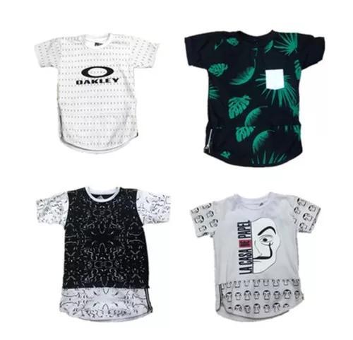 C/ 5 camisetas infantil criança swag camisa longe menino