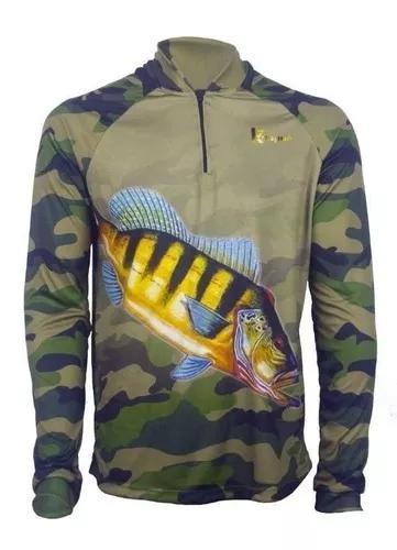 Camisa de pesca proteção uv 50+ kaapuã infantil