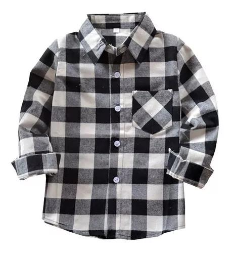 Camisa xadrez infantil criança menino tam 4 ao 10