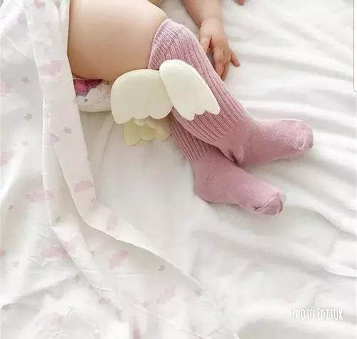 Meia asa bebe e crianca blogueirinha roupa menina