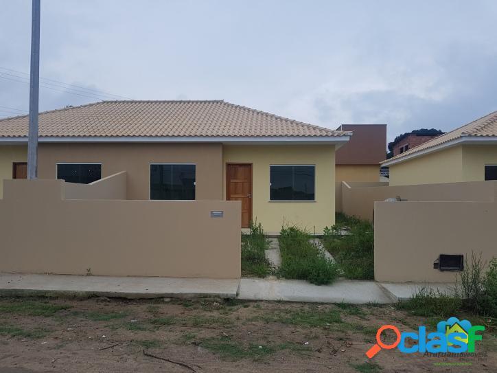 Ótima casa nova com 2 quartos, aceita financiamento bancário
