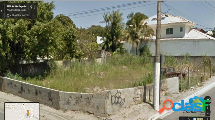 Ótimo terreno localização ideal para residência ou comércio rua asfaltada