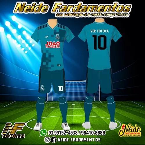Artes para uniformes de times de futebol, futsal, handebol