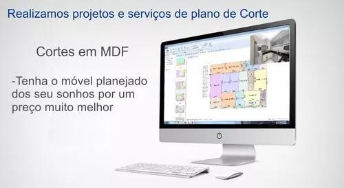 Corte de chapas de mdf - plano de corte móveis planejados