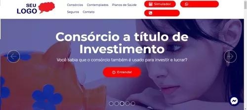 Criação de site para corretores consorcio e seguro