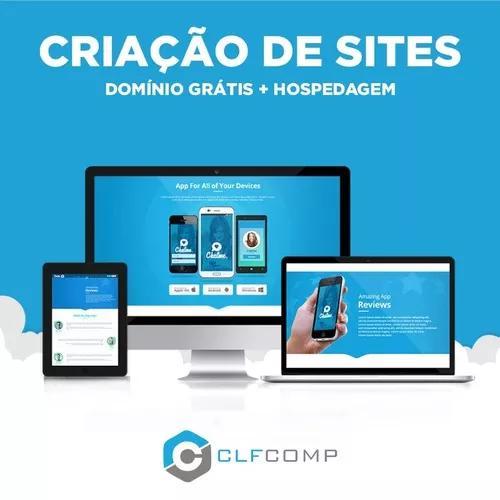 Criação de site responsivo + dominio grátis + chat online
