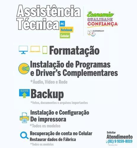 Formatação de pc, notebook ou celular