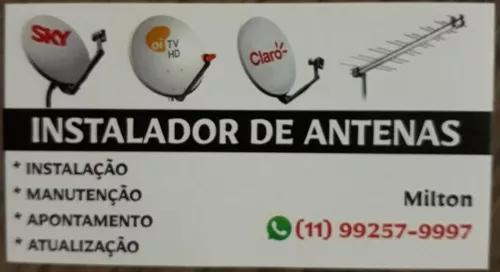 Instalador de antenas atualização apontamentos e