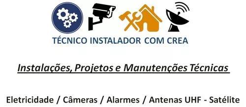 Instalações proj manut técnicas / elétrica câmeras