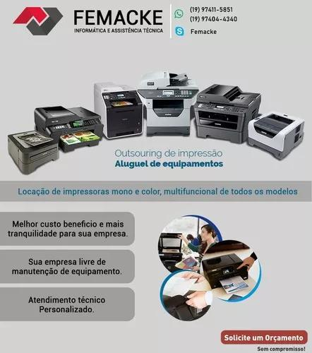 Locação de impressoras ¨outsourcing¨ e manutenção