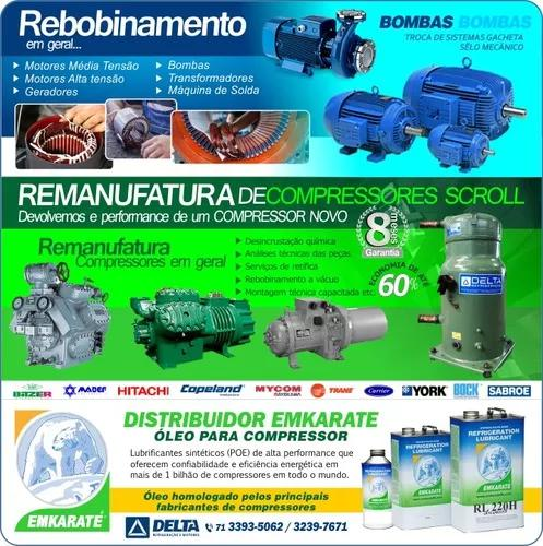 Manutenção motores/bombas/compressores/scroll