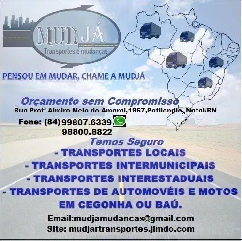 Mude já mudanças e transportes