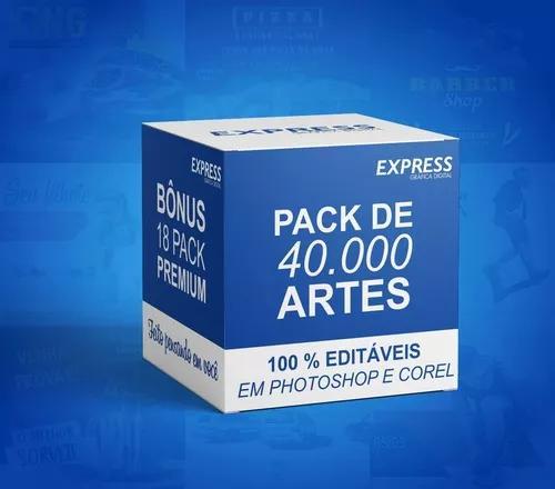 Pack 40.000 artes para corel e photoshop