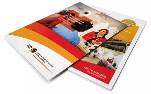 Panfletos, banners, cartões de visita e outros impressos