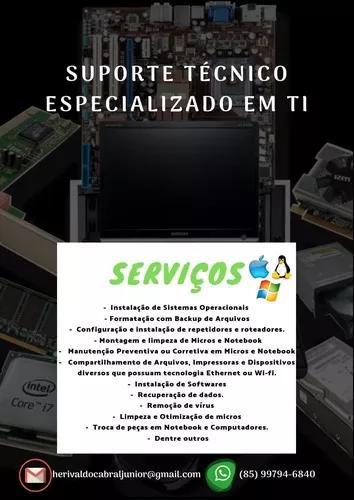 Serviços de conserto de computadores e notebooks
