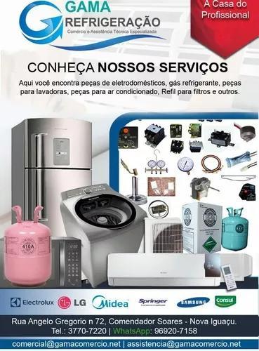 Serviços de refrigeração, comércio de peças.