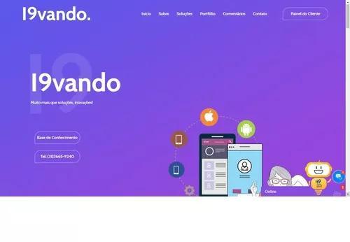 Site institucional, blog, loja virtual, site personalizado.