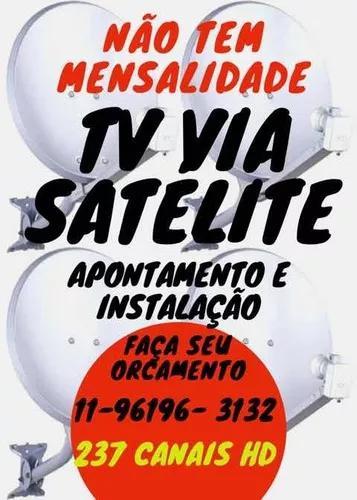 Técnico antenista instalação e apontamento tv via