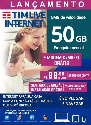 Tim live internet 50 gb + mod