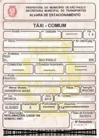 Vende-se licença de táxi + ponto+ carro!