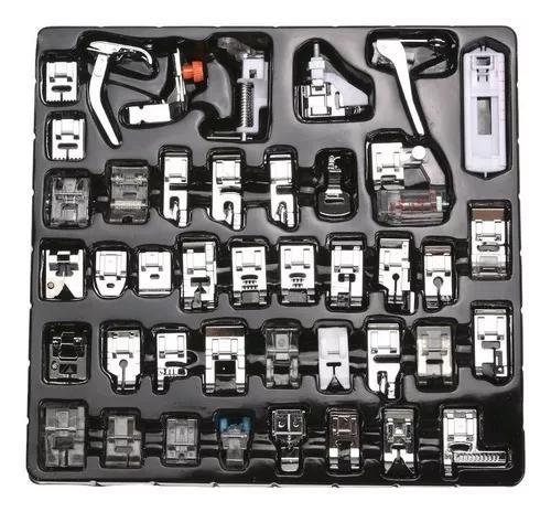 42 calcadores para maquina domesticas,(no saco zip)+guia