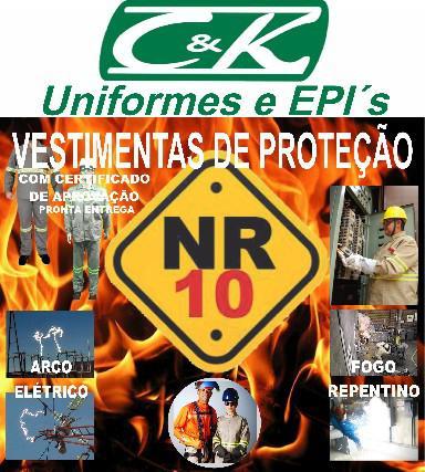 Conjunto eletricista nr10 fire classe 2