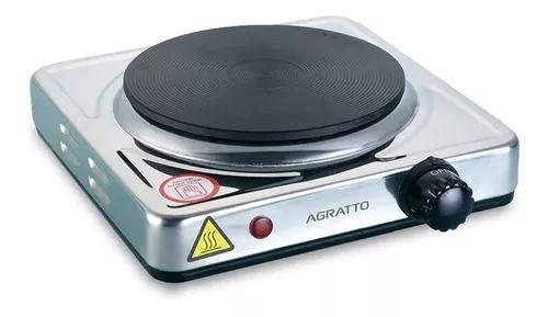 Fogão elétrico inox 1 boca portátil cooktop 1500w agratto