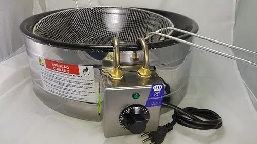 Fritadeira elétrica 7 litros master tacho ágata preto 220v