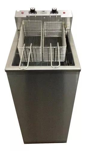 Fritador agua/oleo 26lts 8000w elétrico inox c/ tampa nova