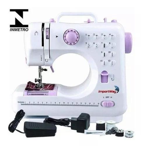 Máquina de costura 12 pontos elétrica bivolt compacta