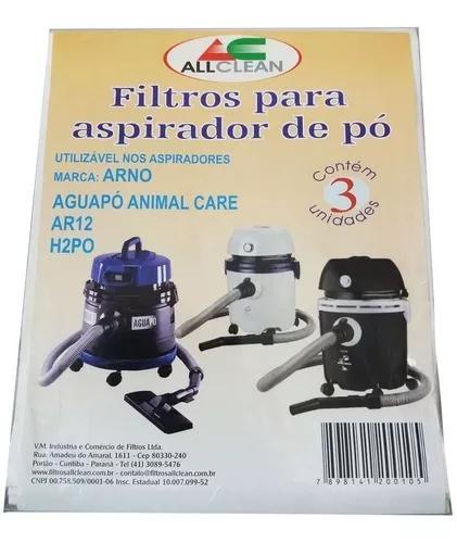 Saco descartável aspirador po arno aguapó animal care