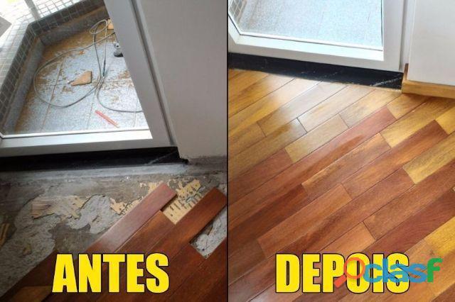 Reparo conserto e reforma de piso laminado e carpete madeira (11) 3495 8066 4