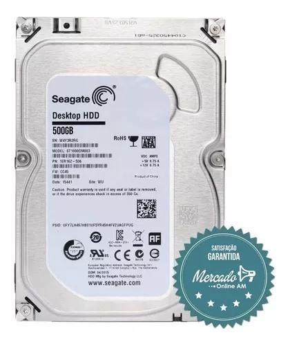 Hd sata desktop 500gb seagate computador e dvr camera cftv