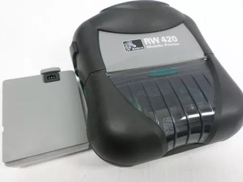 Impressora térmica portátil zebra rw420 bluetooth +