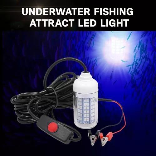 12v 15w subaquática pescaria atrair luz led lâmpada peixe