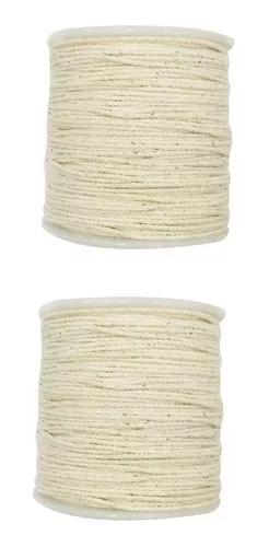 2 pcs 100 rústico corda de algodão rústico trançado