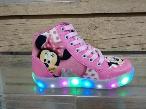 Bota Minnie Mickey Led F