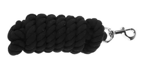 Cavalo chumbo ropes cabrestos algodão tecer rein preto