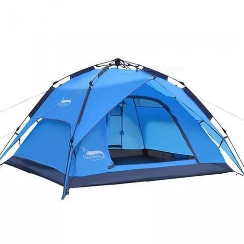 Esamact ao ar livre duplo portas tenda camping automática